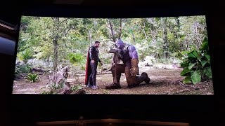 Avengers Infinity War 4k Blu Ray HDR on 55inch SAMSUNG 6SERIES CURVED 4K TV