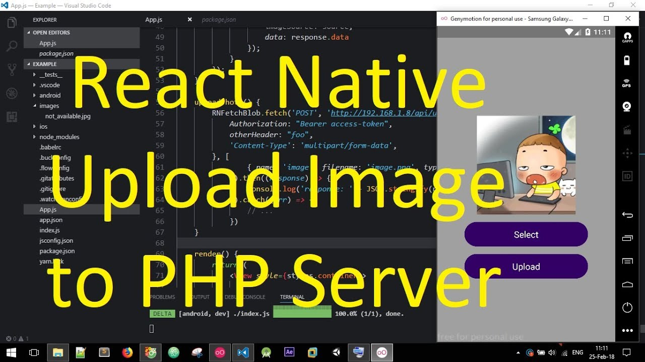 React Native - Upload Image to PHP Server