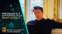 Martti Suosalo Wins Performer in a Supporting Role | BAFTA Games Awards 2020