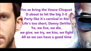 Calvin Harris ft. Tinie Tempah- Drinking From The Bottle (Lyrics) [HD]