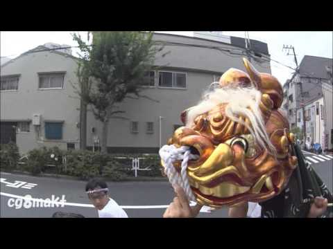 小村井香取神社例大祭 【平成28年】獅子頭巡幸