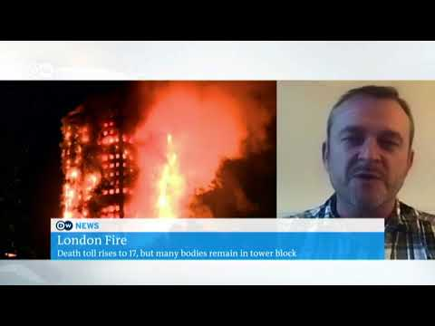 Live TV, June 2017, discussion on Deutsche Welle TV news #Grenfell