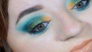 Makijaż - wieczorowy z zielenią