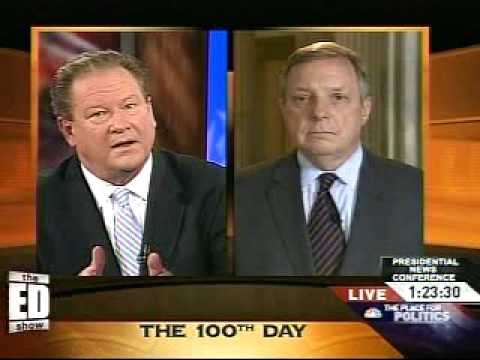 """Dick Durbin: """"The Banks Own Washington and Are Blocking Bankruptcy & Credit Card Reform""""  4/29/09"""