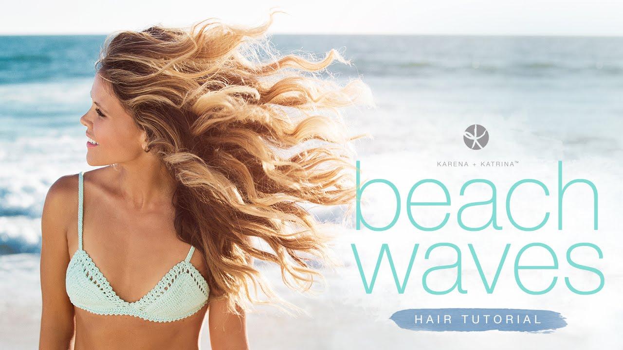 Beach Waves Hair Tutorial!! ☀️ - YouTube