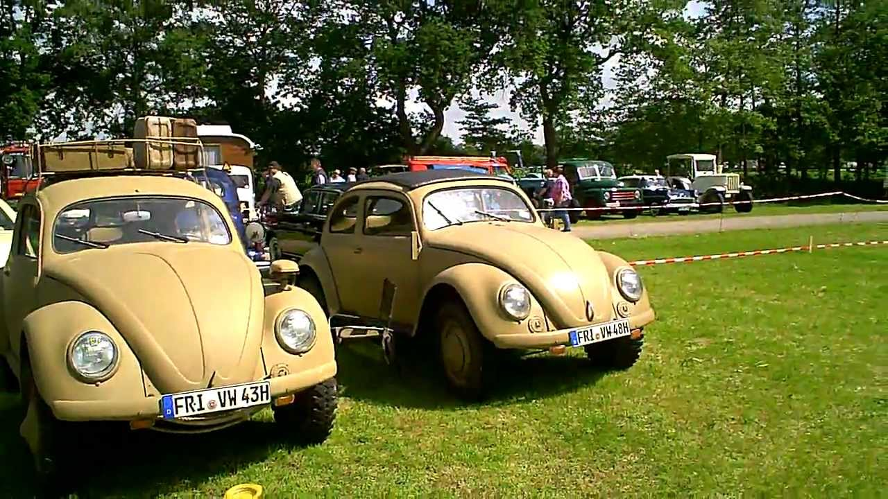 1940 's VW Beetle ex army Sahara 4x4 WW 2 Bockhorn Oldtimer Markt 2012 - YouTube