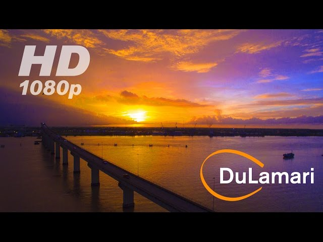 Drone flight: Life in Paramaribo, Suriname 2015