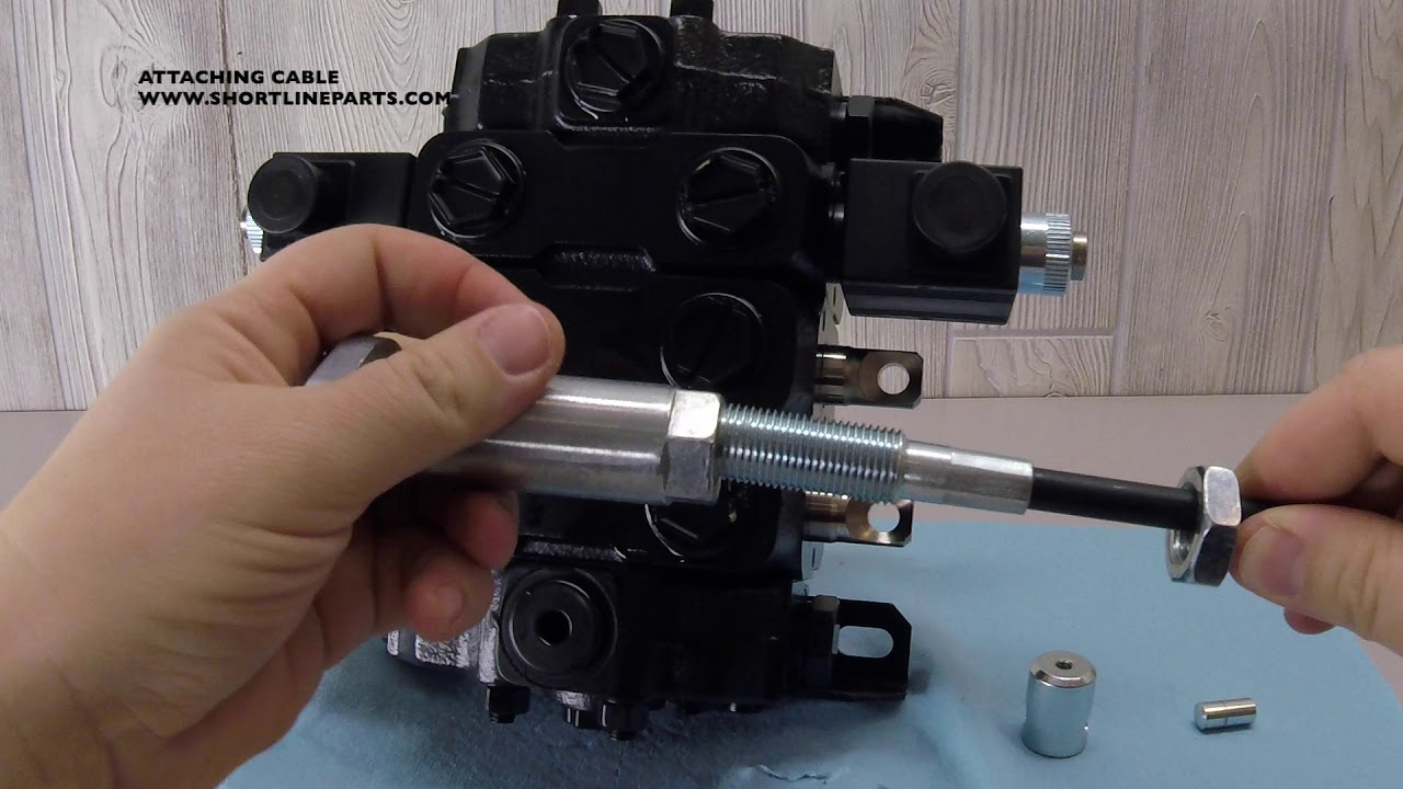 joystick block control valve Nimco hydraulics loader cables
