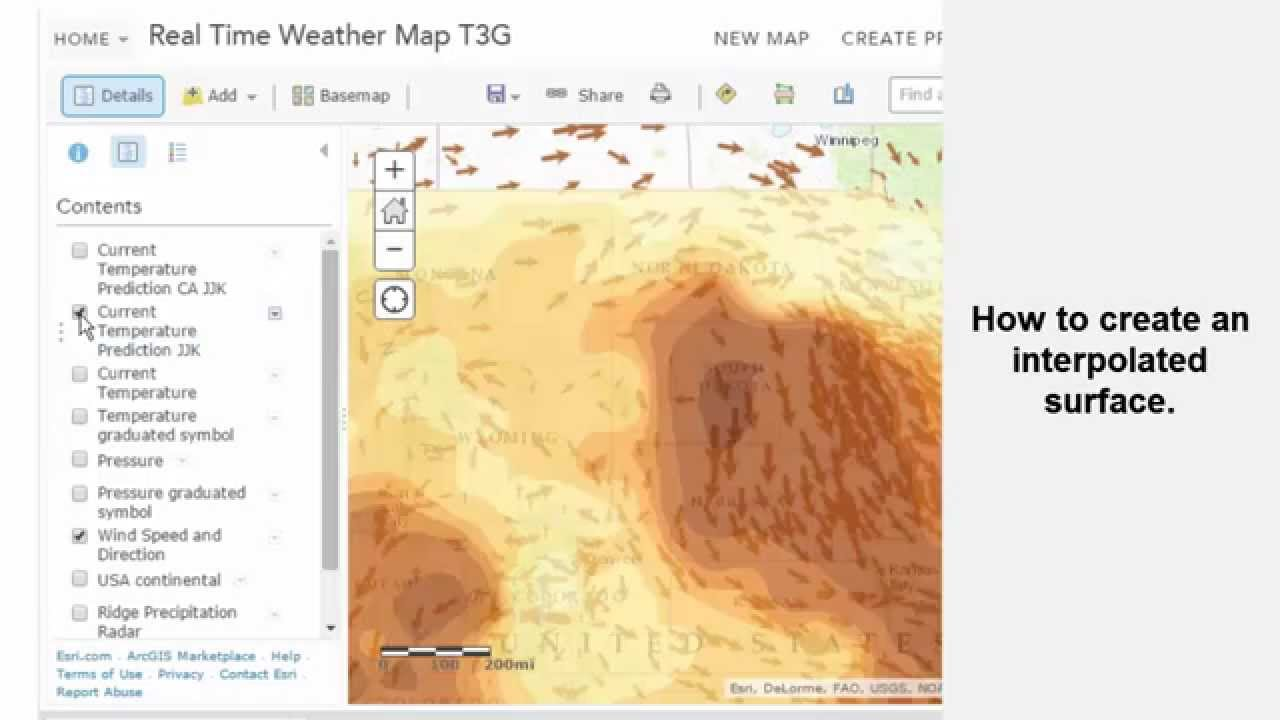 Analyzing real time weather data in ArcGIS Online   YouTube