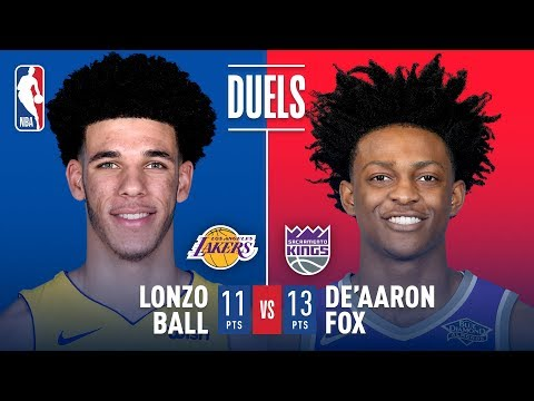 Rookie Point Guards Lonzo Ball and De'Aaron Fox Duel in Sacramento   November 22, 2017
