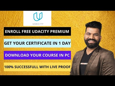Get Udacity Premium Subscription For Free | Complete Course In 1-day| Download Nanodegree In Your PC