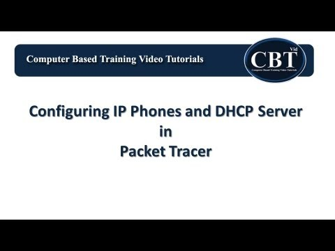 Configuring IP Phones and DHCP Server in Packet Tracer