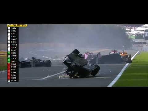 Así fue triple choque en la Fórmula 2 en el que murió un piloto de 22 años