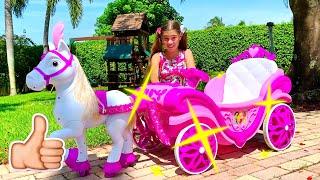나스티아 그리고 미아는 공주님을 위한 마차를 갖고 싶어요