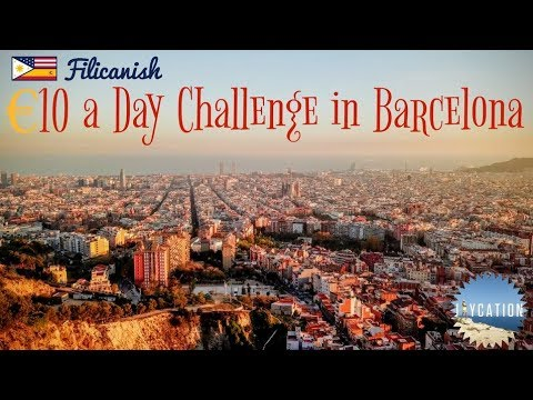 LIVING CHEAP IN BARCELONA   €10 A DAY FOOD CHALLENGE