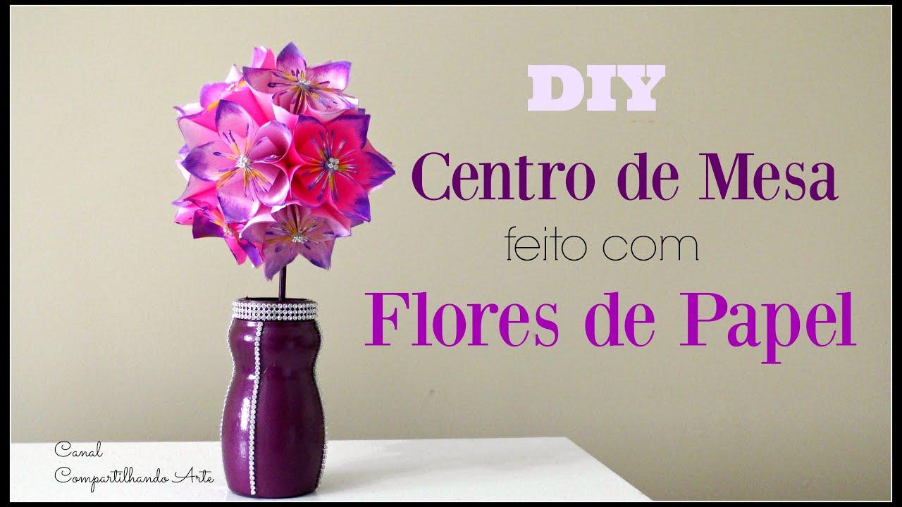 Diy centro de mesa flores de papel topiaria - Centros de mesa de papel ...