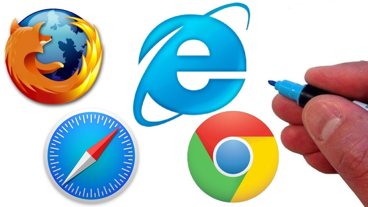 Artist Draws Famous Web Browsers!