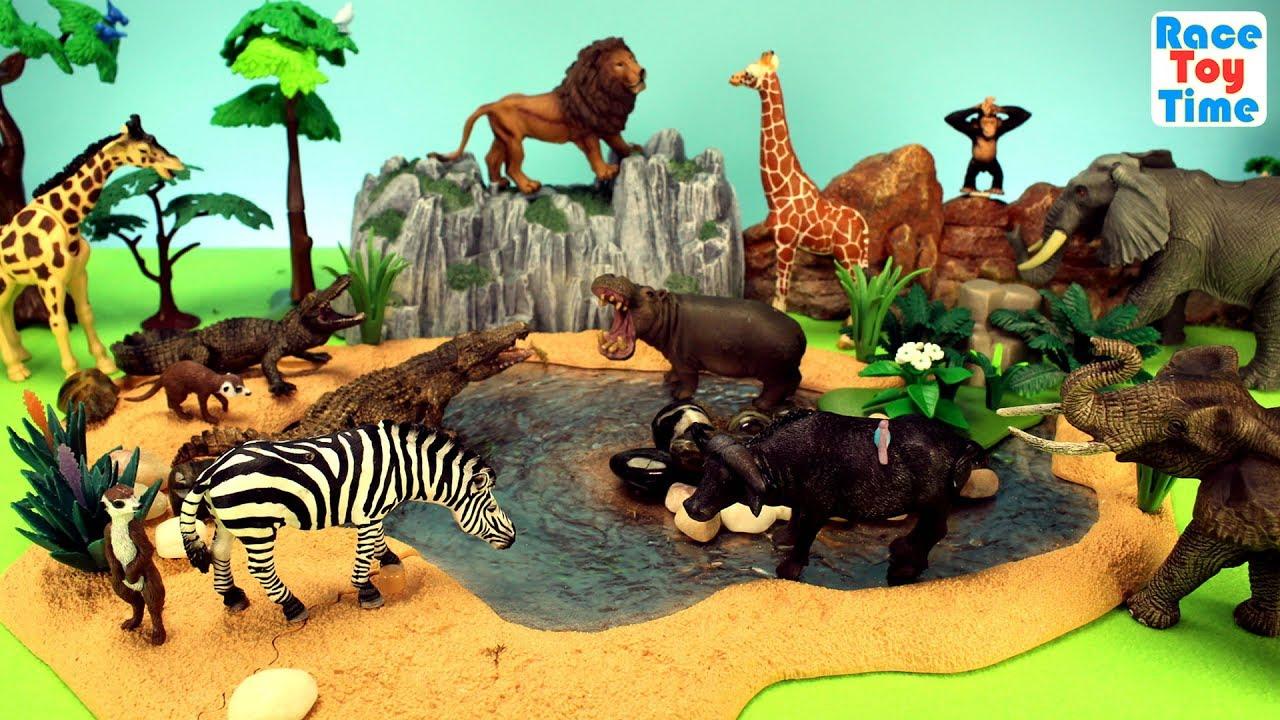 Safari Wild Animals Zoo Adventure Toys For Kids Learn