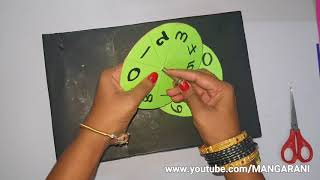 maths working model, 0 to 99 numbers, best out of waste, with empty saree boxes,