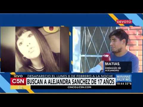 C5N - Sociedad: Habla el hermano de Alejandra Sánchez (17), la joven desaparecida en Devoto