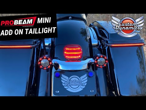 ProBEAM Mini Add On Taillight for Street Glide, Road Glide & Road King Special