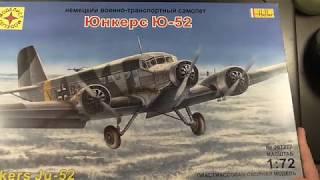 "Обзор модели самолета  Ju-52 от фирмы ""Моделист"""