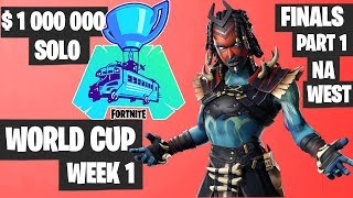 Fortnite World Cup WEEK 1 FINAL Part 1 Highlights - NA West Solo Day 2 [Fortnite Tournament 2019]