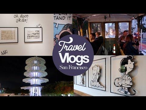 Schulz Museum (Snoopy!), Cable Cars & Japan Centre! San Francisco Vlog #3!