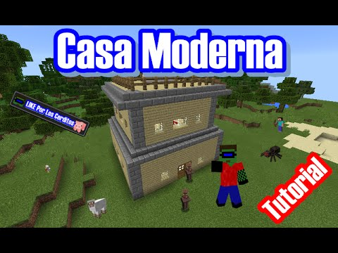casa moderna tutorial mcpe youtube