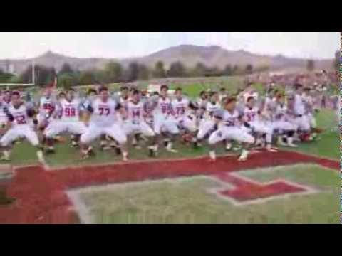 Kahuku performing Haka @ East High Stadium