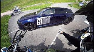 STREETRACE - Loud Audi RS6 vs Supermoto