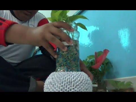 Cantik Wadah Hidroponik Dari Botol Plastik Karya Siswa Smp