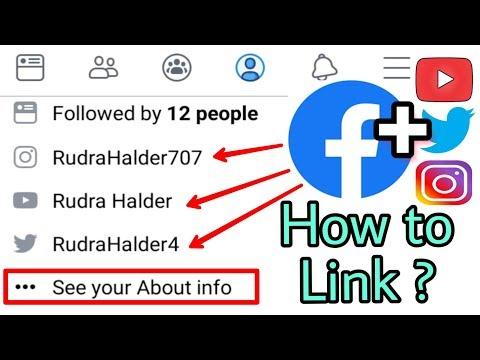 Facebook me YouTube,Twitter,Instagram ki Link kaise jode   Social Media Link add in Facebook