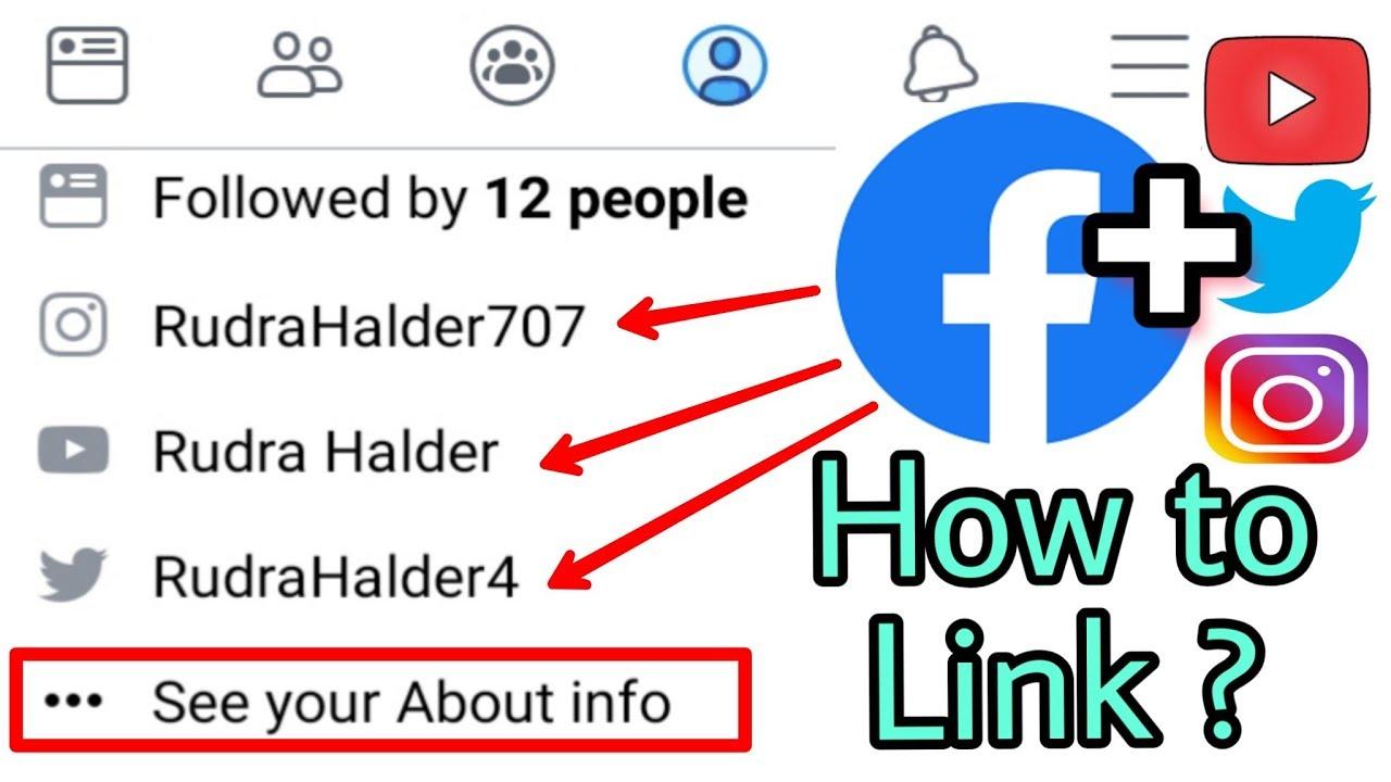 Download Facebook me YouTube,Twitter,Instagram ki Link kaise jode | Social Media Link add in Facebook