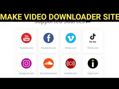 How To Make All In One Video Downloader Website🔥🔥All In One Video Downloader Script 2