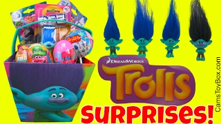Dreamworks Trolls Branch Surprise Easter Eggs Chupa Chups Blind Bags Series 4 Toys Chocolate Fun