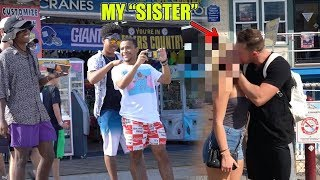 KISSING MY SISTER PRANK