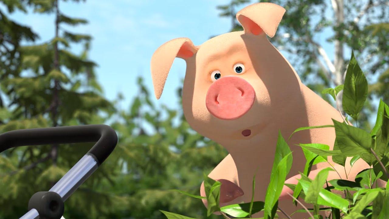 Картинки поросенка из мультфильма маша и медведь