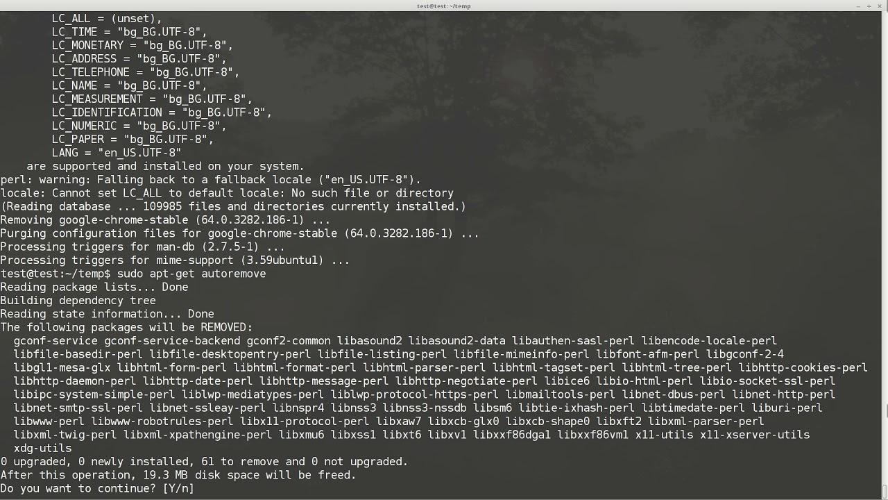 ubuntu 16 04 uninstall and reinstall google chrome completely