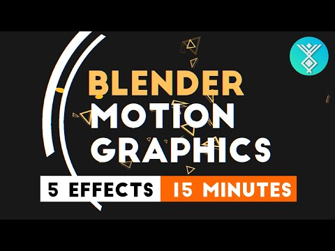 Blender Motion Graphics - 5 Easy Effects In 15 Minutes [Tutorial]