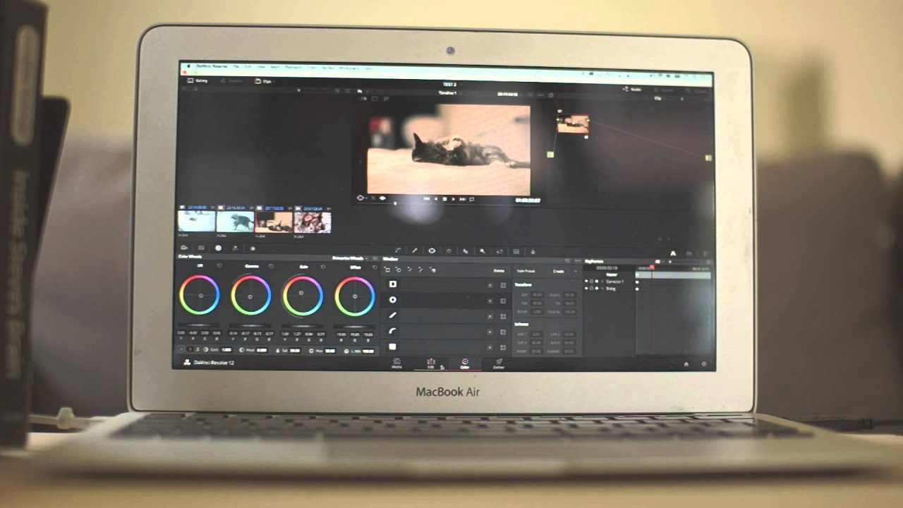 Running DaVinci Resolve 12 on a Mid 2013 MacBook Air | 4K Shooters