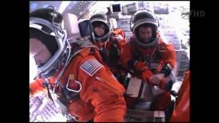 Full Space Shuttle onboard video STS-135 Launch