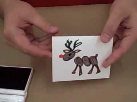 Crankin Out Crafts Ep30 Fingerprint Reindeer Card YouTube