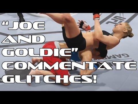 ROGAN AND GOLDBERG COMMENTATE EA UFC GLITCHES!!!