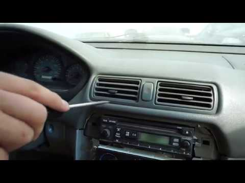 Mitsubishi Galant Center Air Vent Remove And Replace