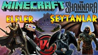 ELF VS ŞEYTANLAR - Minecraft ŞEYTANLARIN YEMİNİ! (KORKUNÇ ELF'LER)