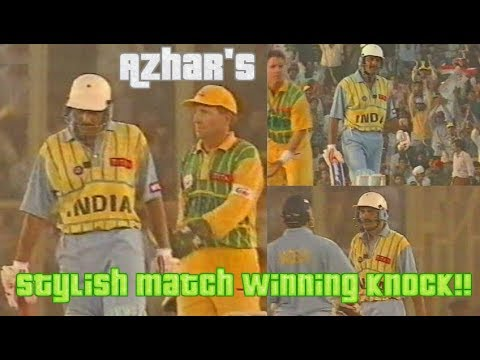 Mohammad Azharuddin Stylish 94 vs Australia 1996 Titan Cup | Azhar's Fabulous Match Winning Knock!!