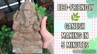Eco friendly Ganesha making/Ganesh clay idol making/Eco friendly Ganesh Murti at home/Ganesh Murti