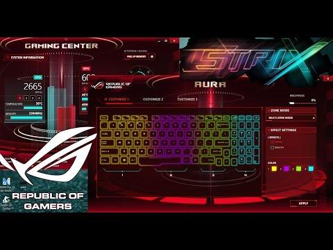 ASUS Gaming Centre(ASUS AURA CORE) Change Keyboard Color RGB Strix