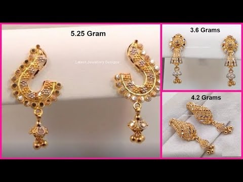 New Gold Earrings Designs With Weight |  Light Weigt Earrings